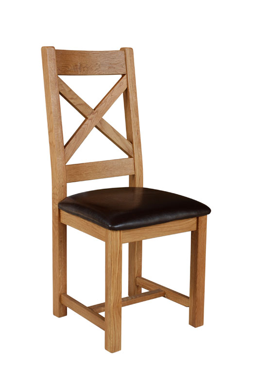 cross back chair- £110.00 - 53 x 43 x 105cm - inches - 21 x 17 x 41