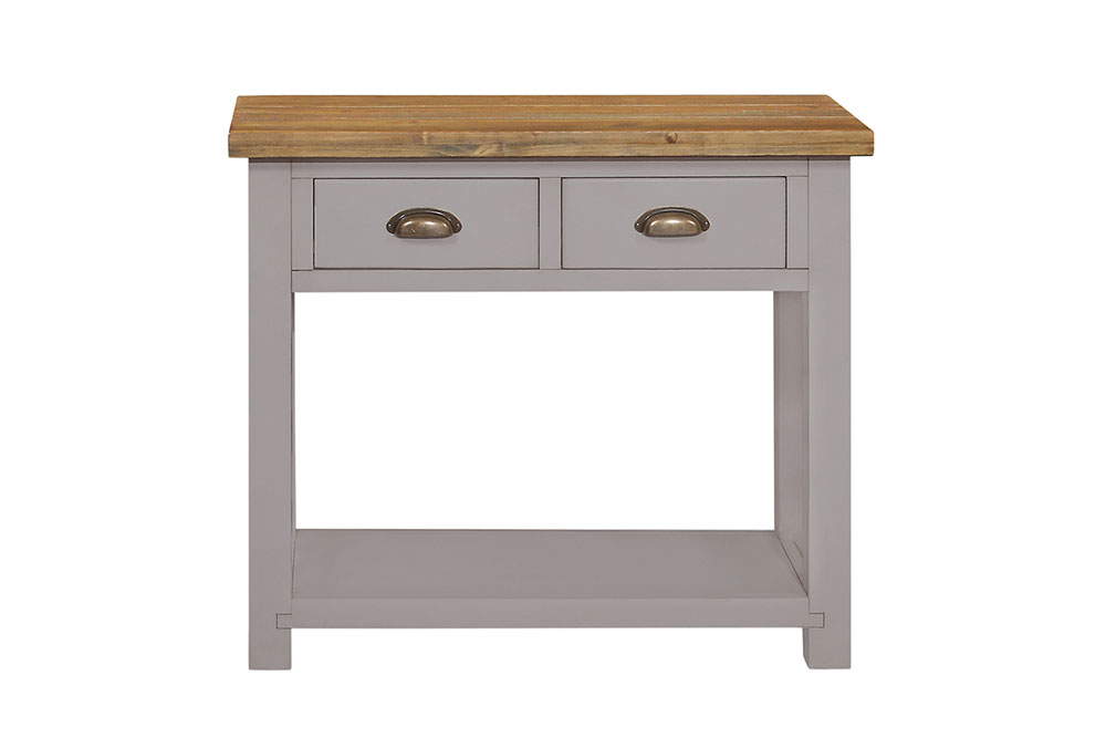 grey painted console table - £210.00 - size - 91 x 40 x 76cm - inches - 36 x 16 x 30