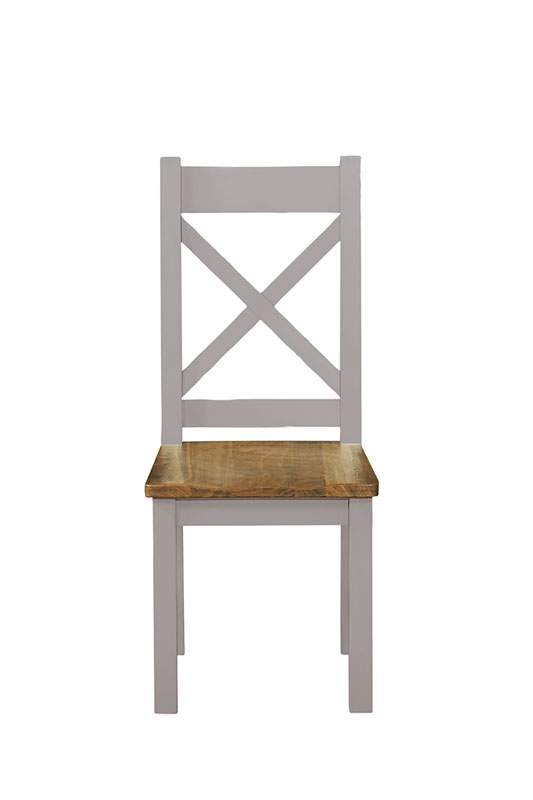 solid wood chair in grey - £89.00 - size - 46 x 54 x 108cm - inches - 18 x 21 x 42