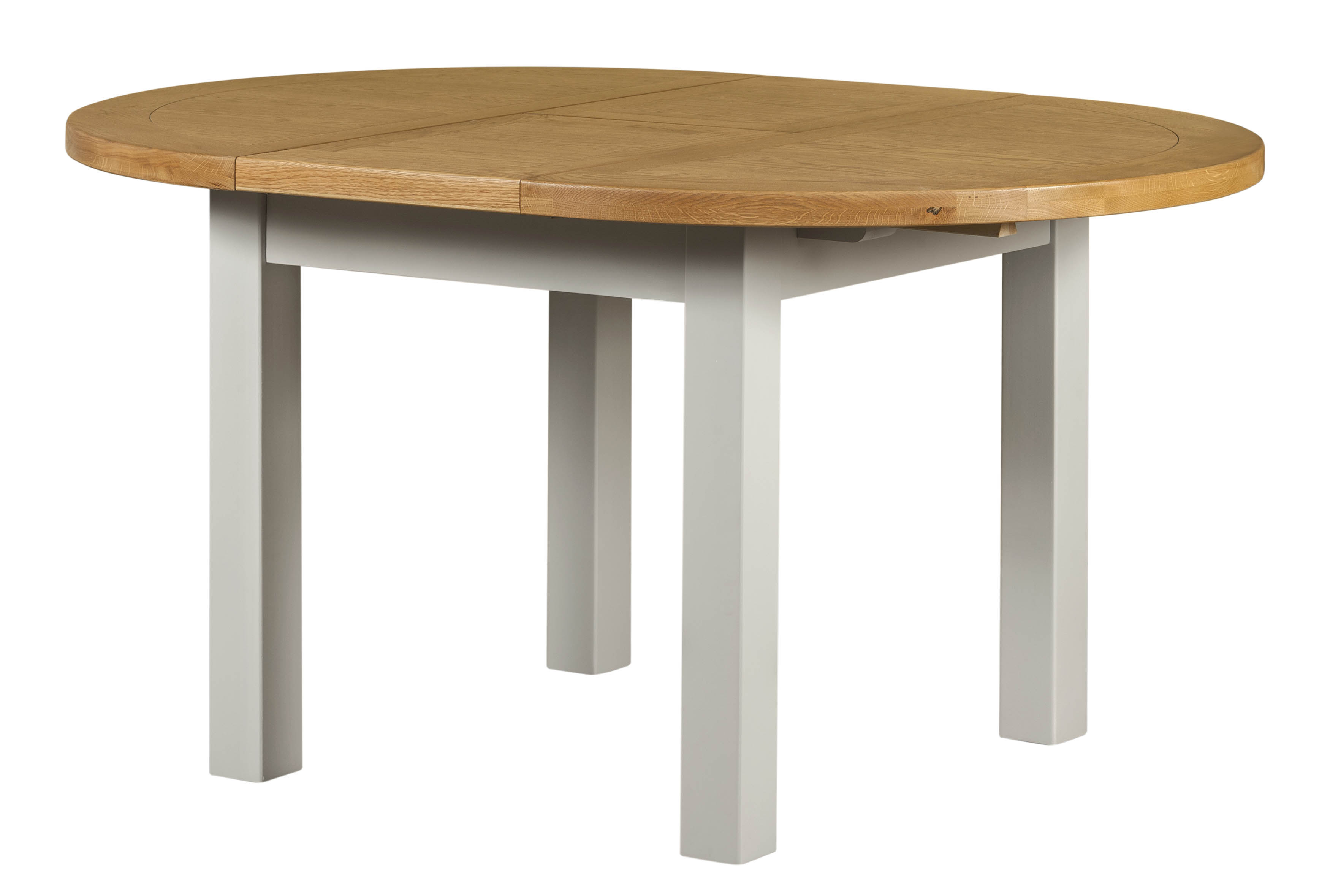 £385.00 - Round dining table grey/lighter top